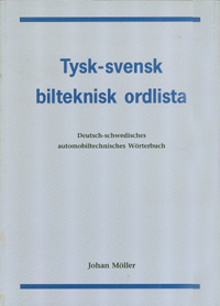 Tysk-svensk bilteknisk ordlista