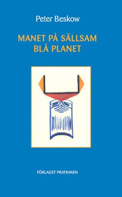 Manet på sällsam blå planet