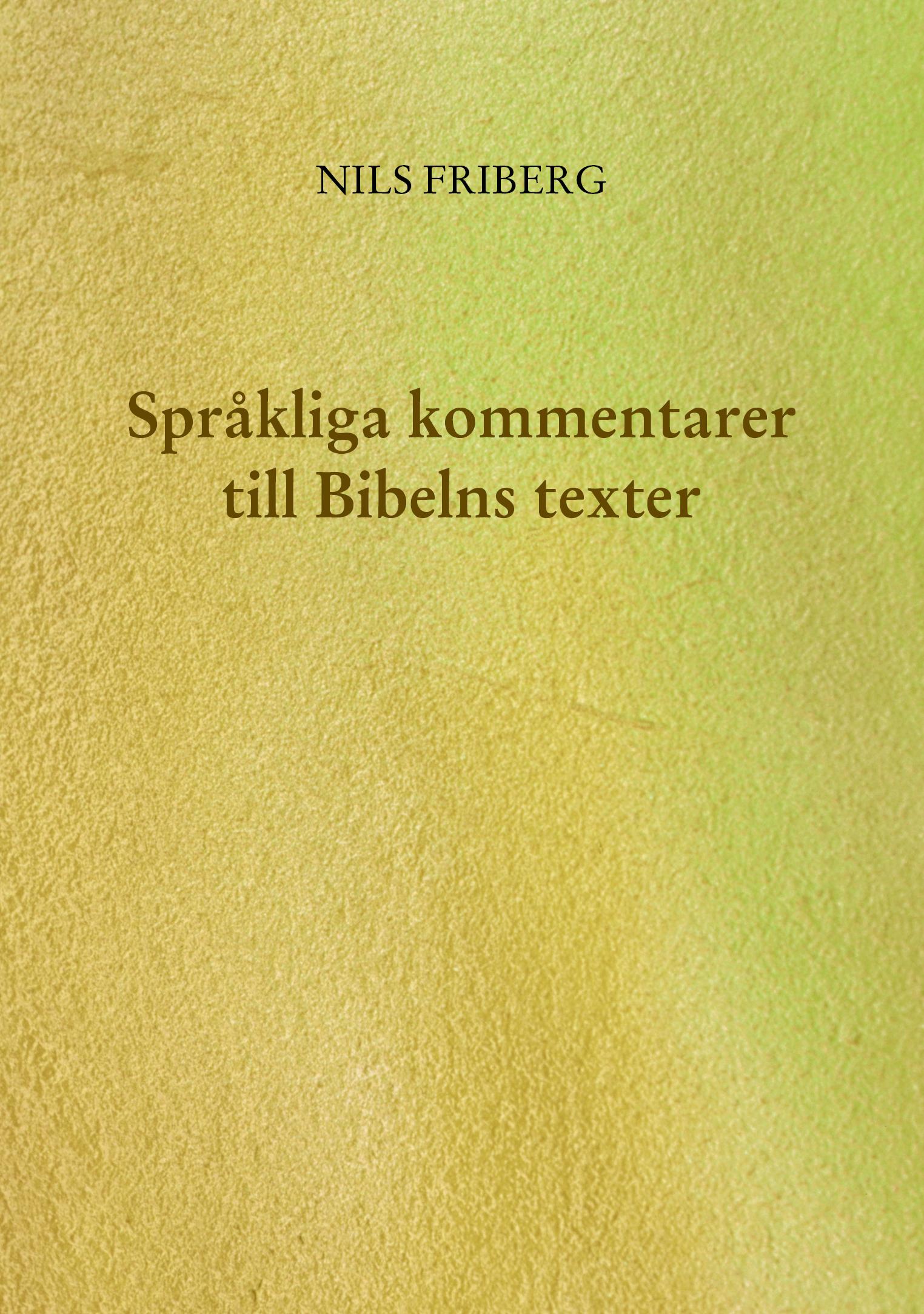 Omslag till Språkliga kommentarer till Bibelns texter